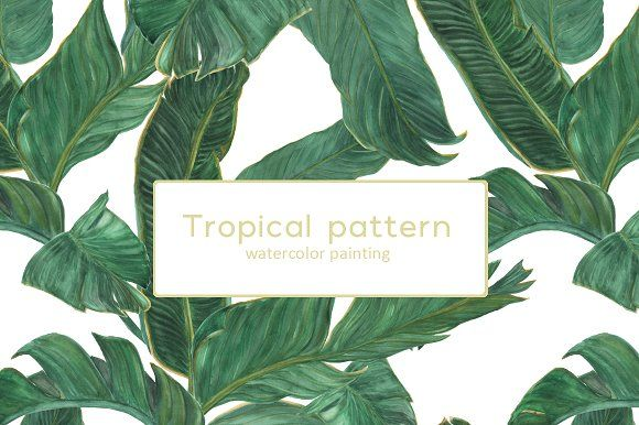 Palm tree leaves patterns by ramika on @creativemarket