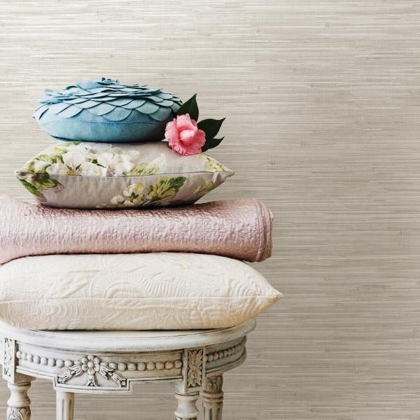 Nuwallpaper Wheat Grasscloth Peel Stick Wallpaper New Oat Beige Nuwallpaper Grasscloth Peel And Stick Wallpaper