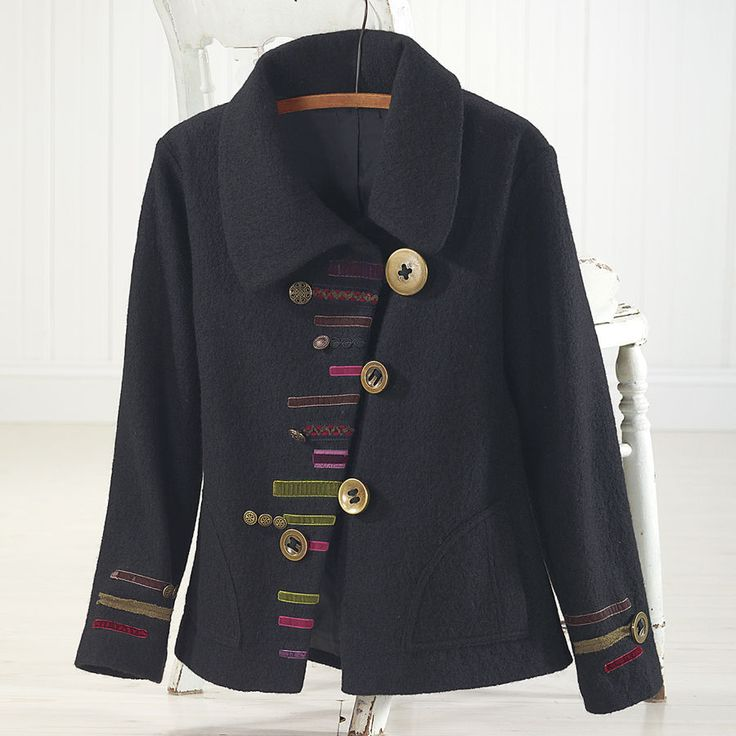 Asymmetric Ribbon Trimmed Jacket - Women's Clothing, Jewelry, Fashion Accessories and Gifts for Women with a Flair of the Outdoors | NorthStyle