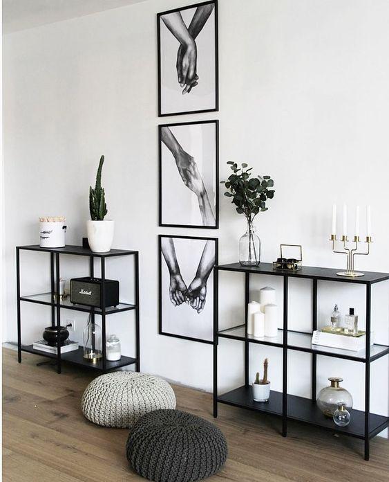 living room shelf storage ideas, shelf decor livin…