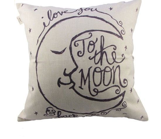 'I Love You to the Moon and Back' Pillow Case | Easy Tumblr Decor Bedroom Ideas for Teen Girls | Cheap and Easy Bedroom Decorating Ideas
