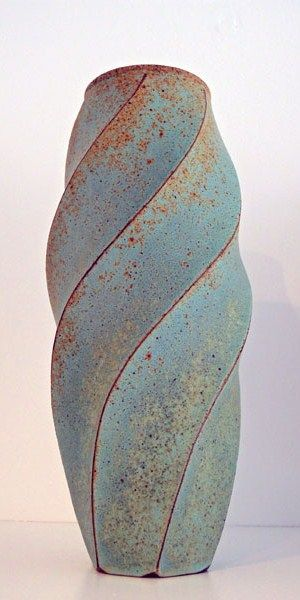 Emily Myers: 'Twisted Vase' Unique 36 x 12 x 12 cms