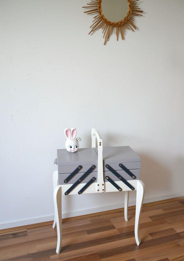 boite à couture vintage , travailleuse , sewing de la boutique atelierdelachoisille sur Etsy
