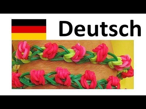 Loom Bandz Anleitung Deutsch / Rainbow Loom Deutsch Rose Bracelet Armband - YouTube