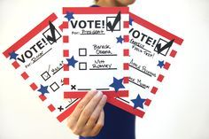 Printable Voting Ballots for Kids - for an Election Day program? or adapt so kids can vote for their favorite books?