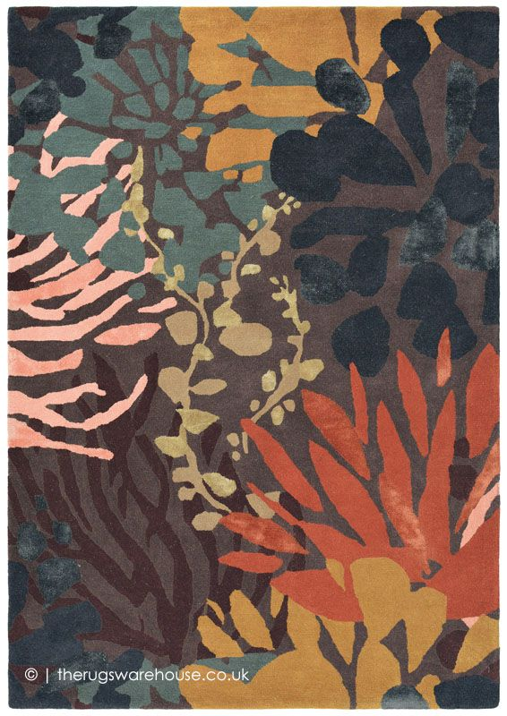 Submarine Dark Mix Rug Rugs Floral Rug Rugs On Carpet