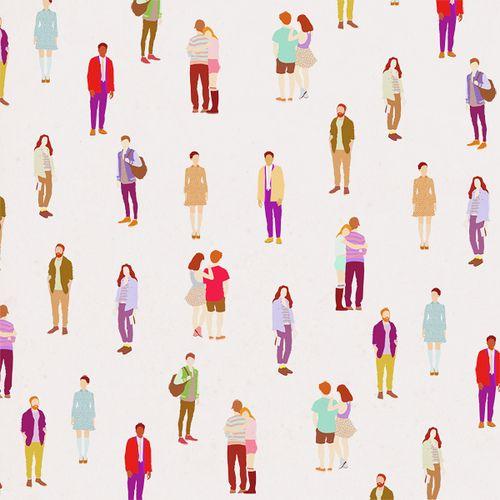 People pattern. Lea Woodpecker