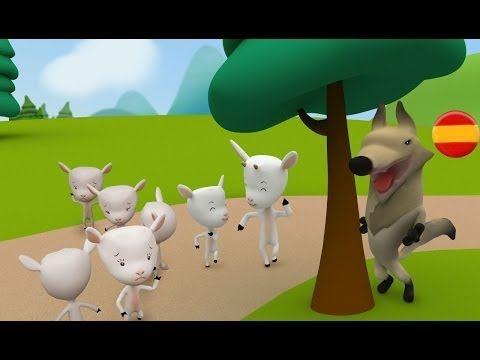 EL LOBO Y LAS SIETE CABRITILLAS: Cuentos infantiles en español - YouTube