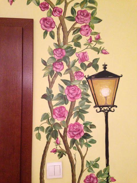 Maluj mi: Różowe róże, wiewiórka i kot