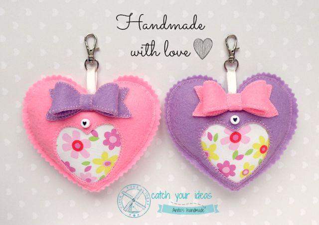 Handmade with love <3 #filc #felt #feltro #hearts