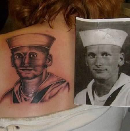 This is just sad..  Bad tattoo