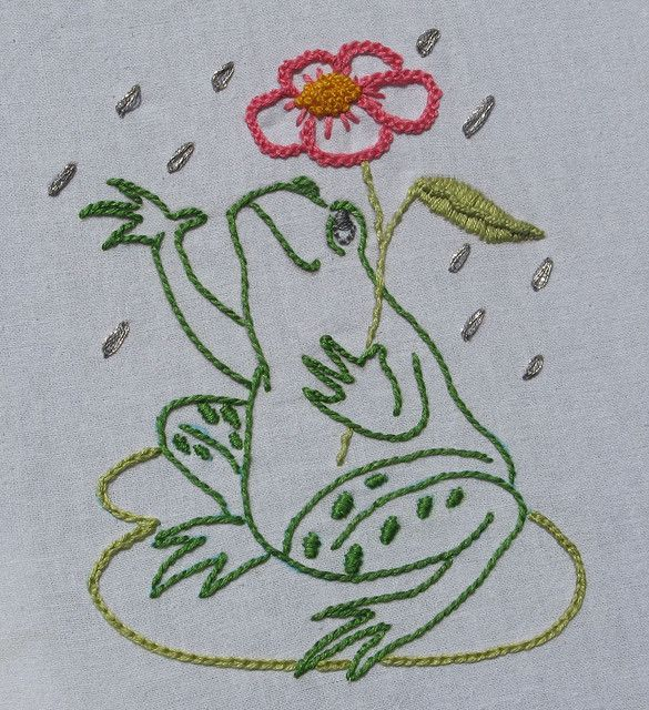 Every time I see a little frog, I think of my paternal grandmother, Mary.  Must embroider a little frog to rememer her by!