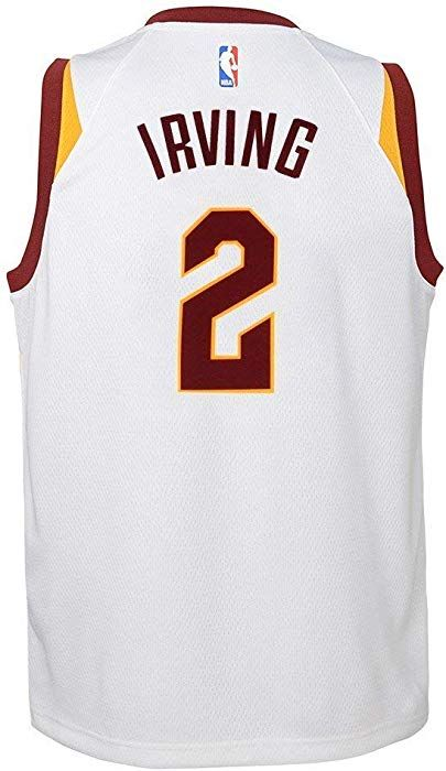 3b5f7895c Amazon.com  NIKE Kyrie Irving Cleveland Cavaliers NBA White Home Swingman  Jersey (Youth Small 8)  Clothing