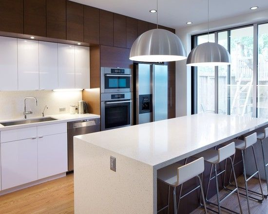 Ikea Kitchen | Free flowing island that partially blocks the patio door