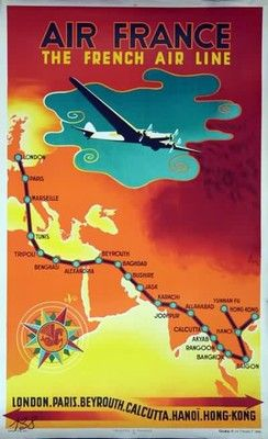AIR FRANCE -The French Air Line -  - 50x70cm AFFICHE / POSTER >NEUF<