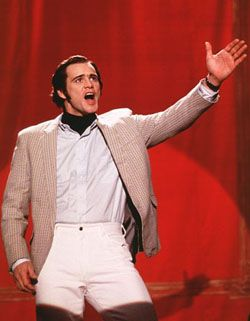 Jim Carrey as Andy Kaufman as Mighty Mouse