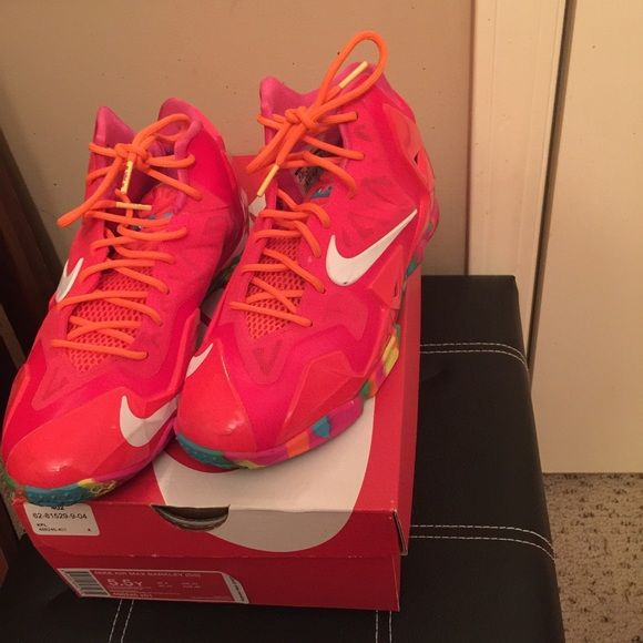 "Lebron ""Fruity Pebbles"" Lebron ""Fruity Pebbles"" size 5.5 worn 4 times Nike Shoes Sneakers"