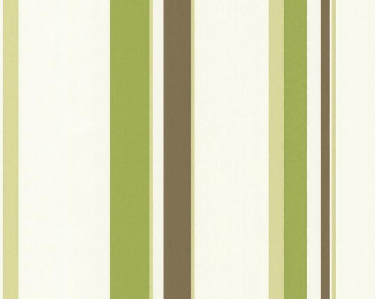 A.S. Creation 237231 - Carta da parati in TNT OK 4, colore: Verde/Marrone/Bianco