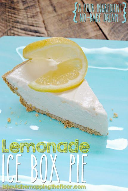 Lemonade Ice Box Pie: only four ingredients and a few hours in the fridge are needed for a no-bake dessert that tastes like you worked on it all day.