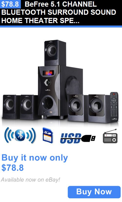 Home Theater Systems: Befree 5.1 Channel Bluetooth Surround Sound Home Theater Speaker System Black BUY IT NOW ONLY: $78.8