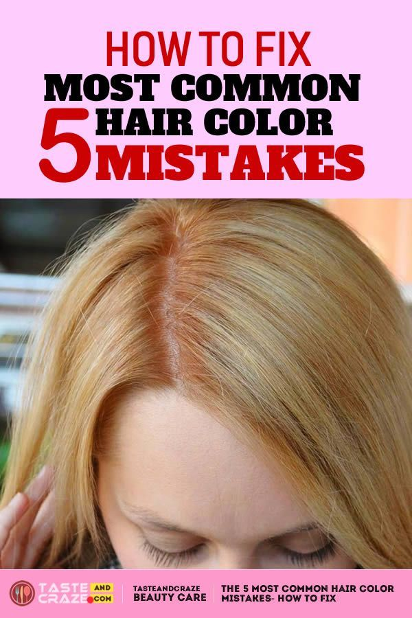 The 5 Most Common Hair Color Mistakes How To Fix Haircolor Haircolour Haircoloring Hai Most Common Hair Color How To Dye Hair At Home At Home Hair Color