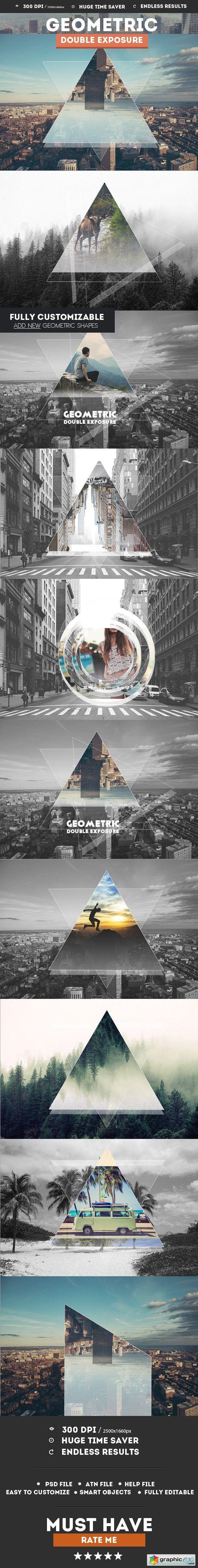 Geometric Double Exposure Photoshop Creator