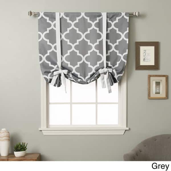 Aurora Home 63-inch Moroccan Print Room Darkening Tie-Up Window Shade - 42 x 63