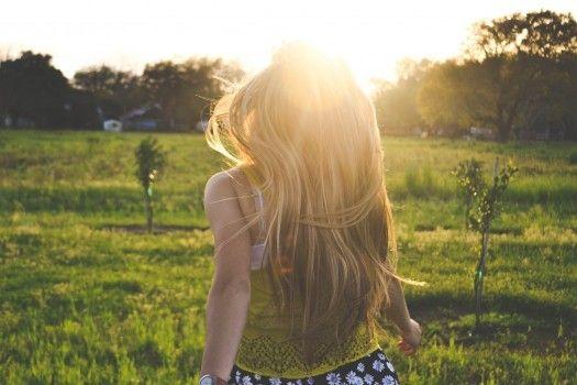 running field girl