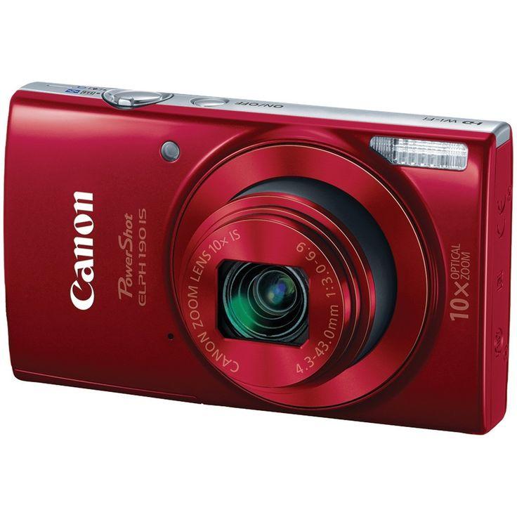 Canon Powershot 20.0 Megapixel Powershot Elph 190 Is Camera (red)