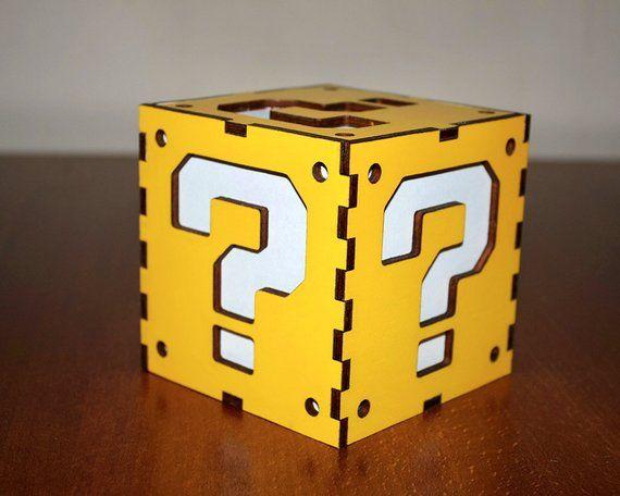 Super Mario Question Block Light Box Super Mario Lantern Super