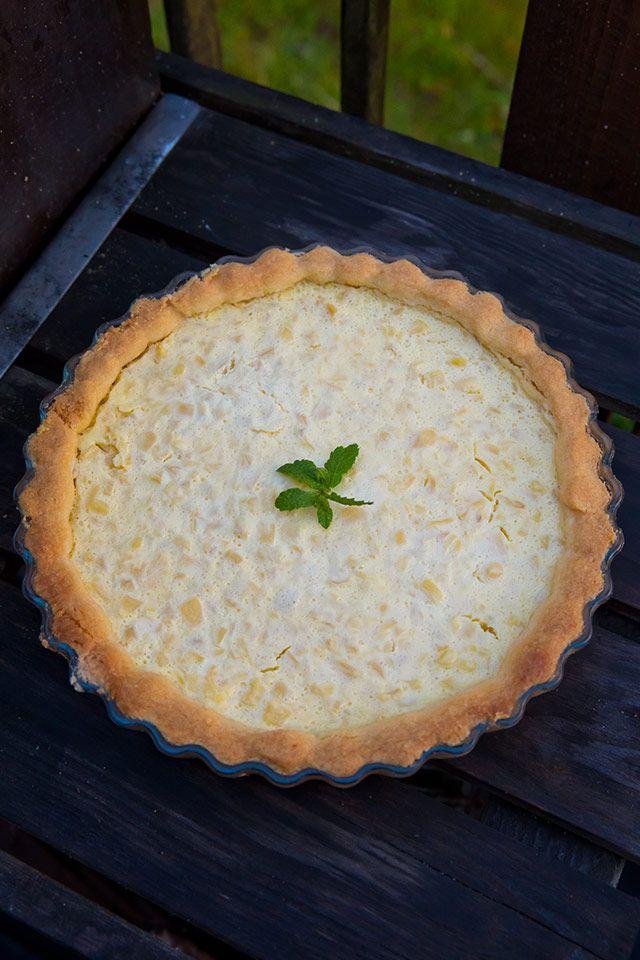 Söta bakverk i rund form: Ananaspaj