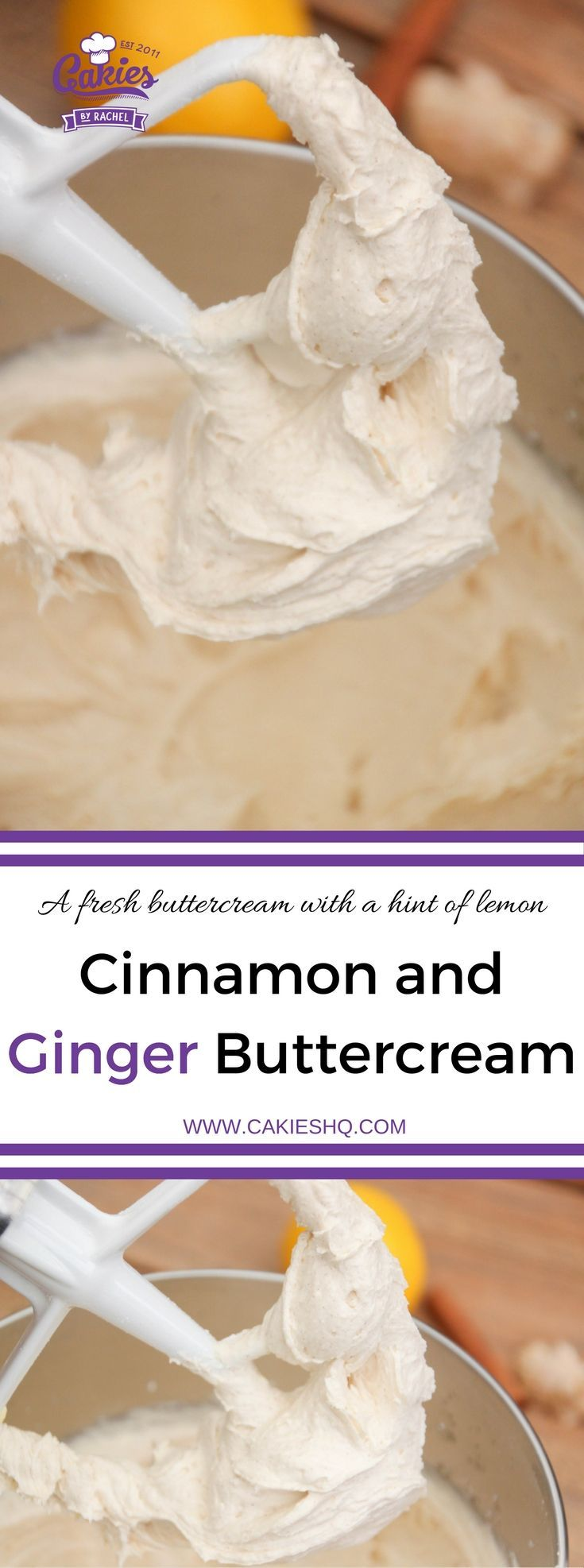 This amazing cinnamon and ginger buttercream with and a hint of lemon goes well with pumpkin pecan cupcakes and makes a great filling for cakes.
