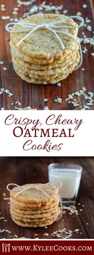 These crispy chewy oatmeal cookies are my absolute ideal cookie. Crisp, with a slight chew, lots of vanilla, and butter and EASY to make!