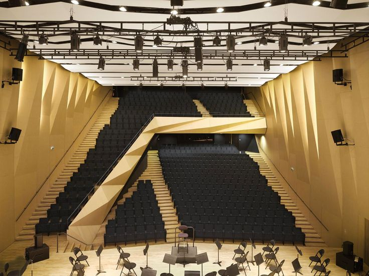Kengo Kuma and Associates, Conservatoire Darius Milhaud, Aix-en-Provence. Photo Roland Halbe