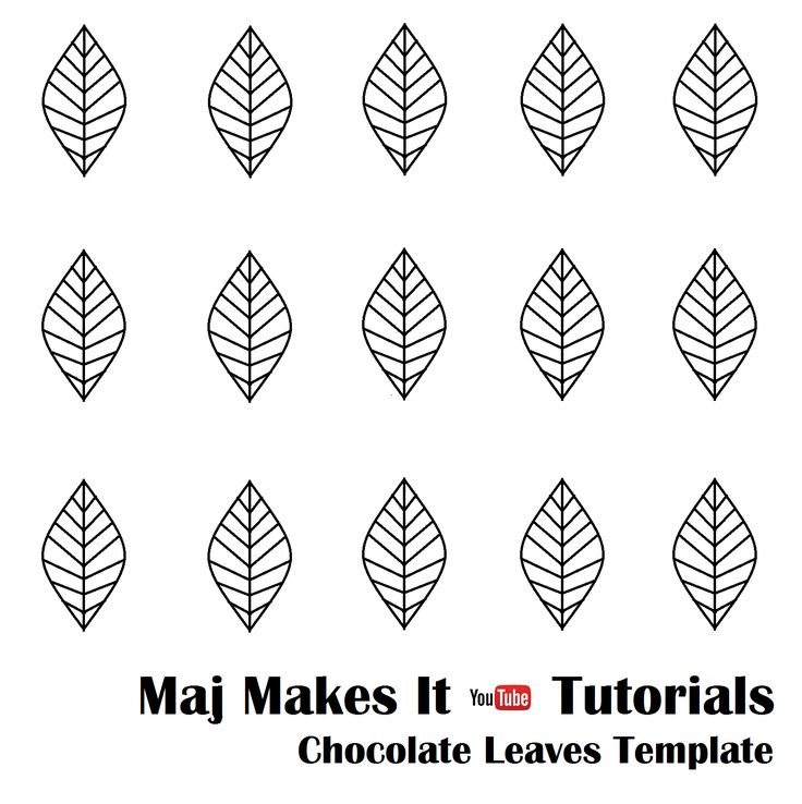 This template helps with making chocolate leaves. Use under parchment paper and use wilton candy melts. super easy to do ! https://youtu.be/XpcV1K3Cvc0