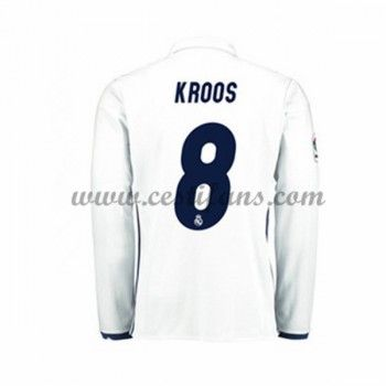 Real Madrid Fotbalové Dresy 2016-17 Kroos 8 Domáci Dres Dlouhým Rukávem