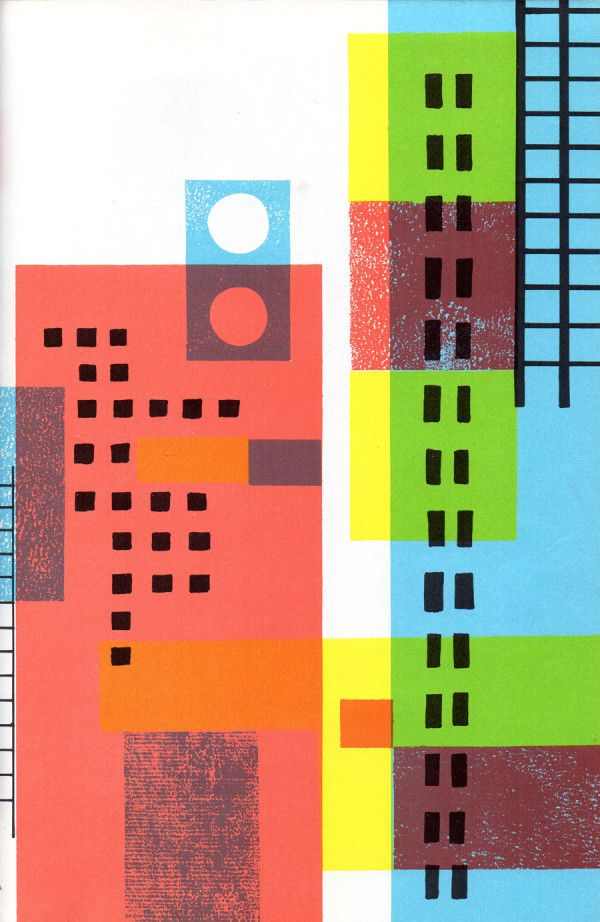 A lovely, overprinted cityscape, 1959.