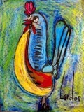 Picasso's Rooster- when I see all of these beautiful pictures from KINDERGARTEN...I wonder what I am doing wrong that I can't get a recognizable rooster out of 8 kids!