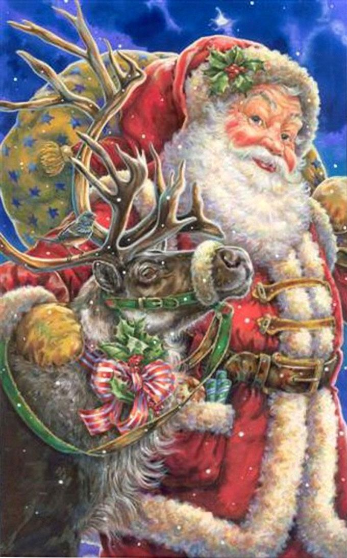 by Donna Race ... Father Christmas, Santa Claus, St. Nick                                                                                                                                                      Plus