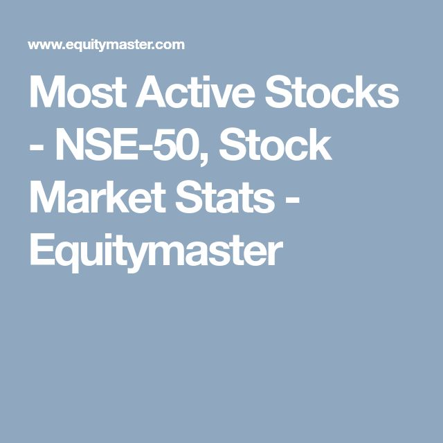 Most Active Stocks - NYSE and NASDAQ