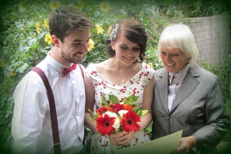 Jordan and Jack married in my Heart Garden in March