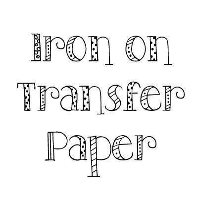 Transfer papier voor wit of licht gekleurde Shirts - strijkijzer op transferpapier - normaal papier met geen ontwerp - inkt Jet Printer alleen