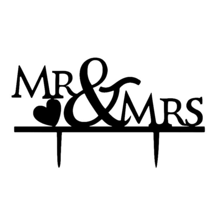 Engagement Wedding Silhouette Cake Topper Supplies Decorations Cake inserted car… – Home & Garden Products