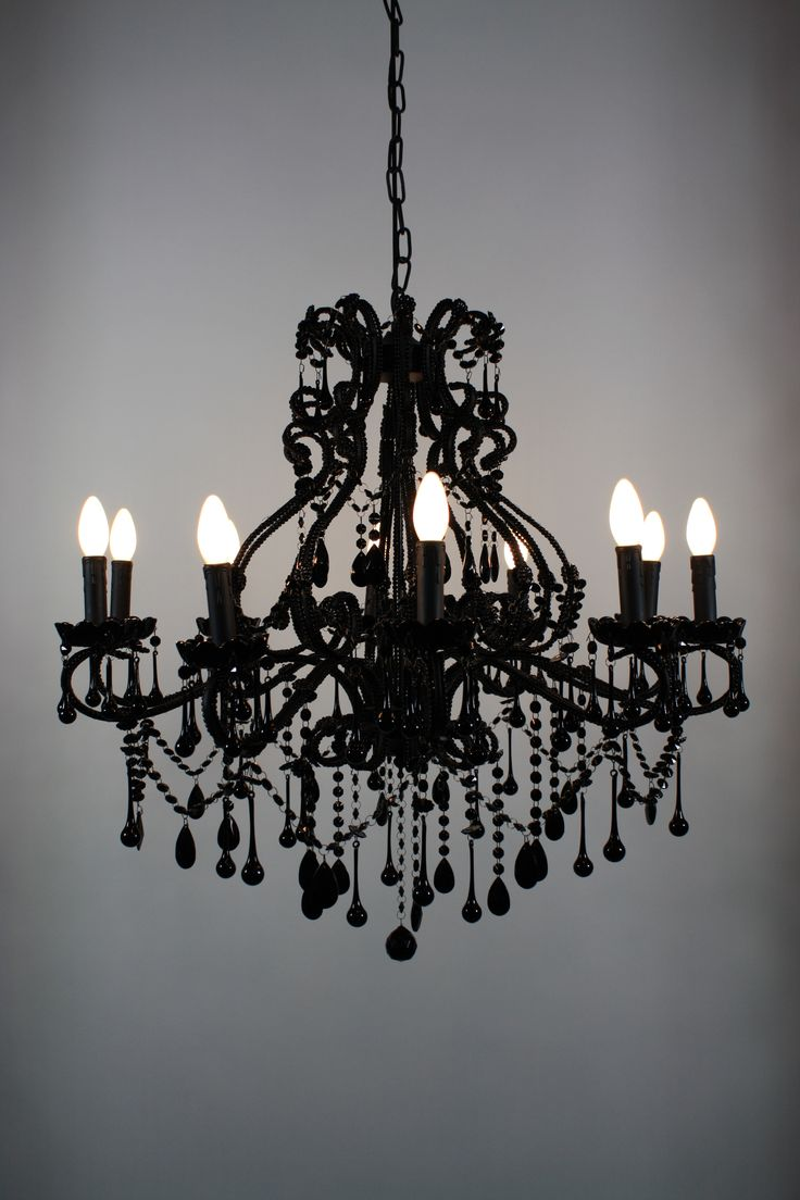 Goth Chandelier! - Black Vintage Chandelier   Foohoo - event furniture hire company. foohoo.co.uk