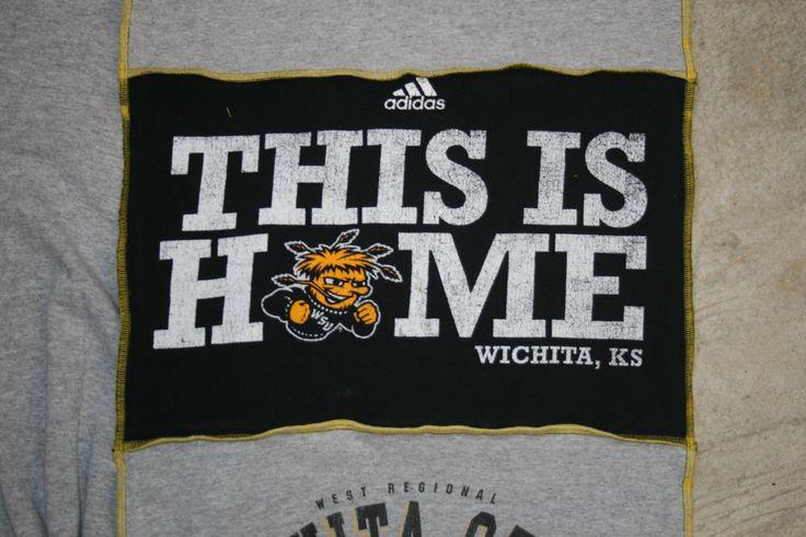 Wichita State University  Shockers WSU Basketball T shirt tee shirt t-shirt scarf scarves WUShock by IzzySwank on Etsy