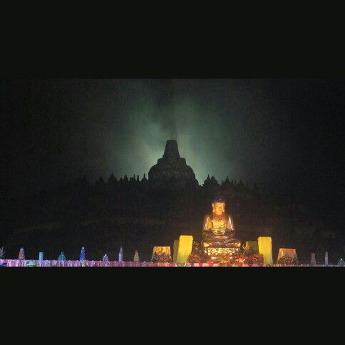 Vesak day in borobudur