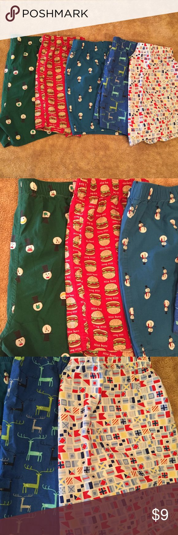 Set of 5 Fun boxers Gently used, set of fun boxers. Perfect for the teen in your house. 100% cotton. Old Navy Underwear & Socks Boxers