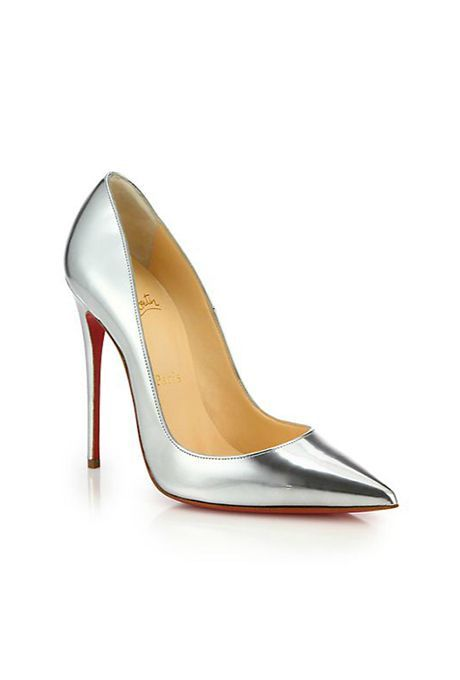 info for 09802 354dc Brides.com: . So Kate silver metallic leather pumps, $695 ...