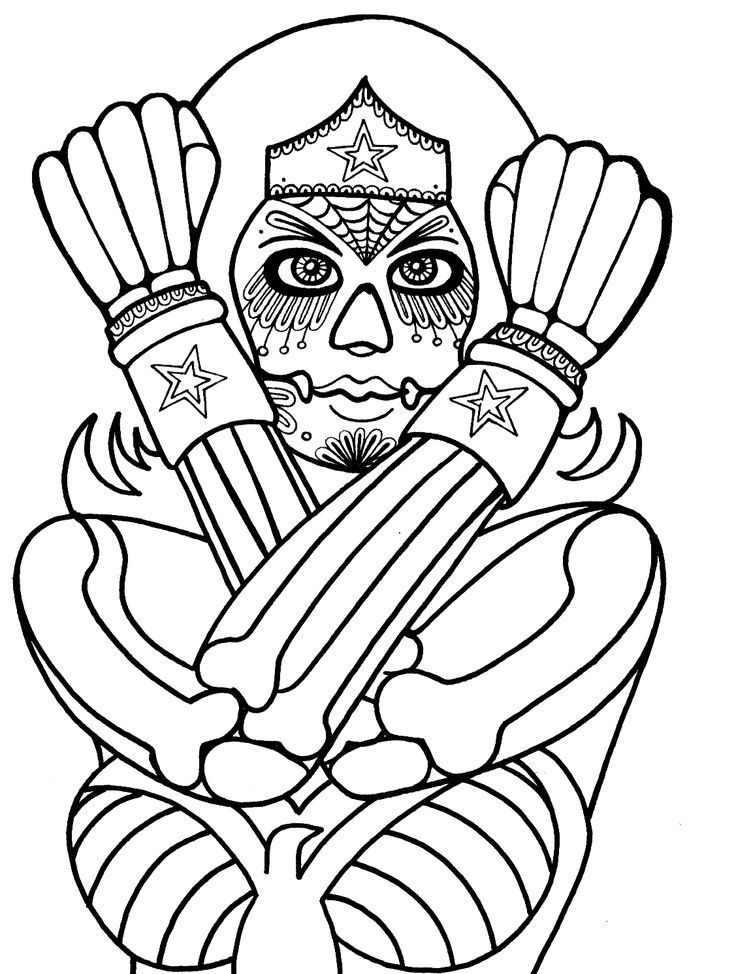 Coloring Pages For Adults Skull : 55 best sugar skulls coloring images on pinterest