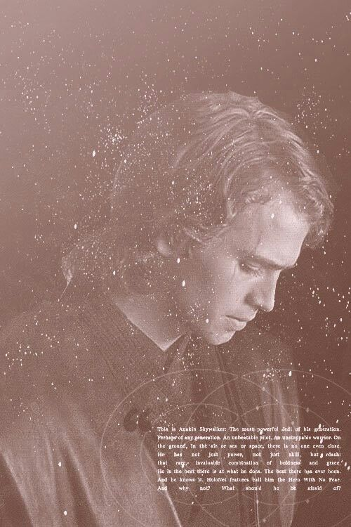 This is Anakin Skywalker. The most powerful Jedi of his generation. Perhaps of any generation. An unbeatable pilot. An unstopable warrior. On the ground, in the air or sea or space, there is no one even close. He has not just power, not just skill, but _____ ; that invaluable combination of boldness and grace. He is the best there is at what he does. The best there's ever been. And he knows it, Holonet features call him the Hero With No Fear. And why not? What should he be afraid of?